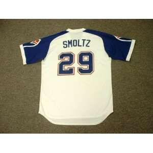 com JOHN SMOLTZ Atlanta Braves 1970s Majestic Cooperstown Throwback