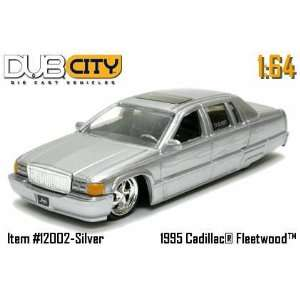 Dub City 164 Scale 1995 Silver Cadillac Fleetwood Die Cast Car