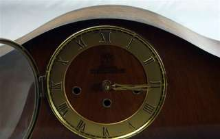VINTAGE OAK ART DECO GERMAN MANTLE MANTEL CLOCK EJU