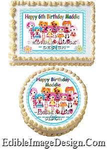 LALALOOPSY DOLL Birthday Edible Party Cake Image Cupcake Topper Favor