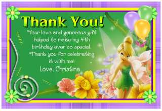 TINKERBELL BIRTHDAY THANK YOU CARDS