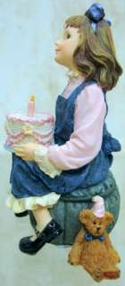 BOYDS BEARS Kaitlyn DOLLSTONE Resin BIRTHDAY 1E 3591