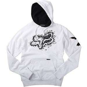 Fox Racing Bats Hoody   Small/White Automotive