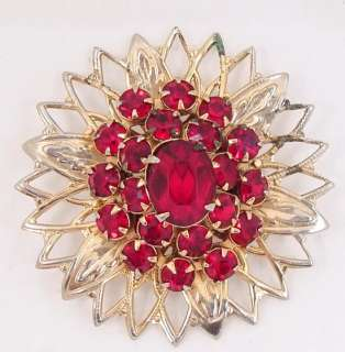 Vintage Antique Exquisite Rhinestone Pin Brooch 1950s