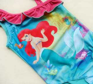 Disney Princess Ariel Mermaid Girls Baby Swimsuit Swimwear Tankini