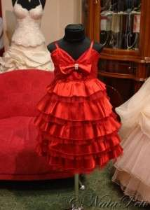 FLOWER GIRL PAGEANT PARTY HOLIDAY DRESS 1460 RED SIZE 2 6