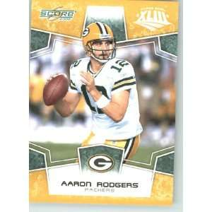 Super Bowl XLIII Gold Border # 105 Aaron Rodgers   Green Bay Packers