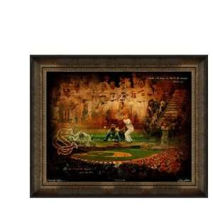 South Carolina Gamecocks Artwork Gamecocks Baseball 30x40 Framed