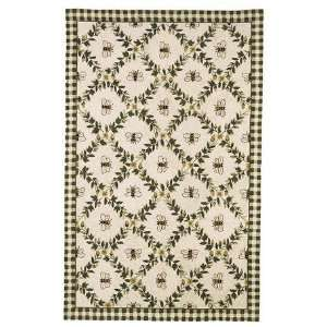 Safavieh Chelsea HK55A IVORY / GREEN 4 6 X 6 6 Oval Area Rug