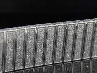 MENS WHITE GOLD FINISH TENNIS DIAMOND BRACELET PAVE 8CT DESIGNER STYLE