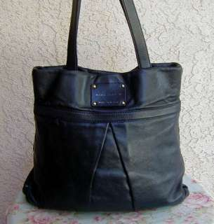 Black Soft Italian Leather MARC JACOBS Tote Bag~Purse ITALY