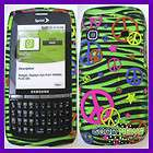 for Sprint Samsung Replenish M580   Green Peace Zebra Hard Case Phone