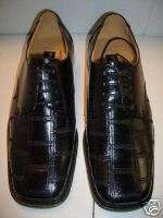MENS ITALIAN STYLE BLACK DRESS SHOES SIZE 12 NEW
