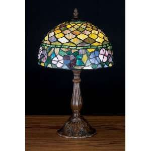 Meyda Tiffany Tiffany Floral Nautical Art Glass Table Lamp