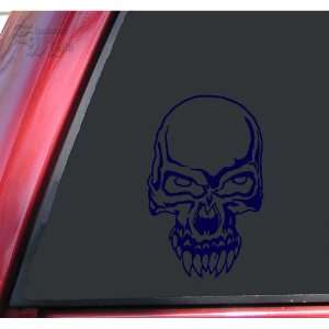 Demon Skull #2 Vinyl Decal Sticker   Dark Blue