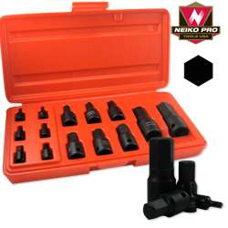 IMPACT MM METRIC SIZE HEX ALLEN BIT SOCKET DRIVE TOOL SET FOR WRENCH