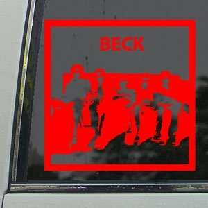 Mongolian Chop Squad Red Decal Anime Window Red Sticker Arts, Crafts