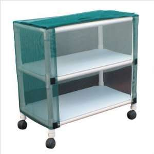 MJM International E332 C Echo Mid Size Linen Cart with Cover