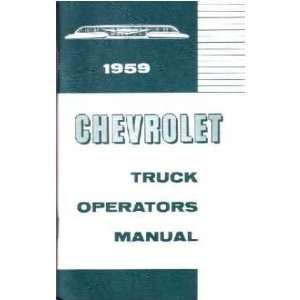 1959 CHEVROLET TRUCK Full Line Owners Manual User Guide