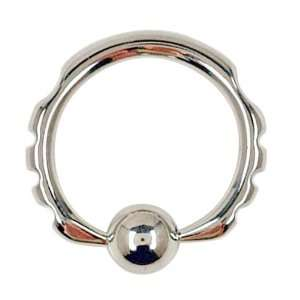 Gauge 5/8 316L Surgical Steel Side Notched Captive Ring Jewelry