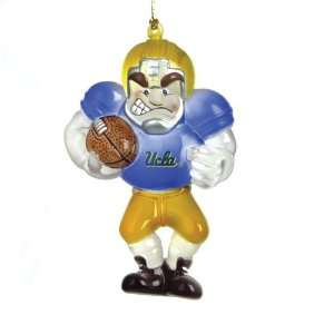 Pack of 2 NCAA UCLA Bruins Football Player Christmas Ornaments 3.5