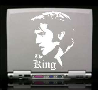 Elvis The King Decal Sticker   Car Truck Window Laptop