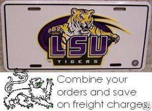 NCAA Aluminum License Plate Louisiana State LSU Tigers