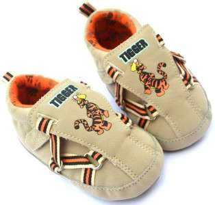 new brown soft sole baby boy shoes UK size 2 3 4