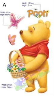 DISNEY WINNIE THE POOH ♥ REMOVABLE WALL DECAL STICKERS