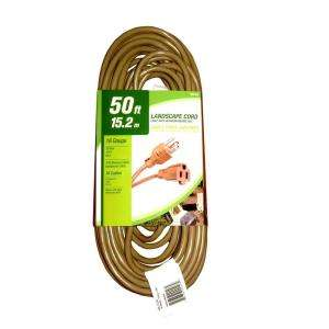 50 ft. 16/3 Light Duty Indoor/Outdoor Landscape Cord HD#266 619 at The