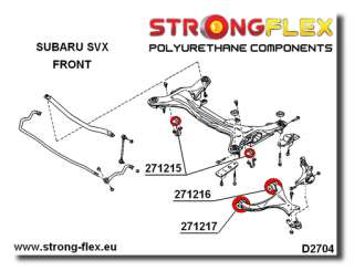 Subaru SVX Front Suspension Bush KIT SPORT POLYURETHANE