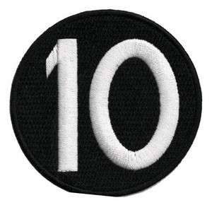 BEN 10 number 10 Cartoon Emo Embroidery Iron on Patches