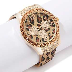 Diane Gilman Must Have Animal Print Leather Watch