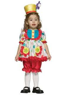 Toddler Girls Clown Costume   Childs, Infant Clown Halloween Costumes