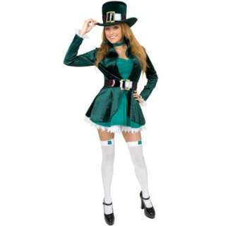 Halloween Costumes Sexy Leprechaun with Hat Adult Costume