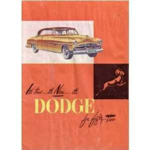 1952 DODGE Sales Brochure Literature Book Piece