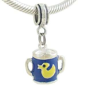 BABY SIPPY CUP BEAD CHARM for European Charm Bracelet Arts, Crafts