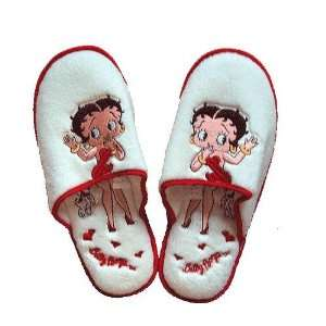 Licensed Betty Boop Sweet White Womens Slipper (M)