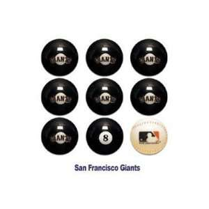 San Francisco Giants MLB Licensed Billiards Ball Set of 9