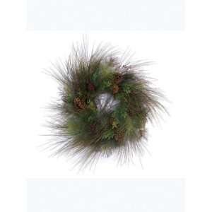 Artificial Pine Cone Berry Christmas Wreaths   Unlit 30 Home