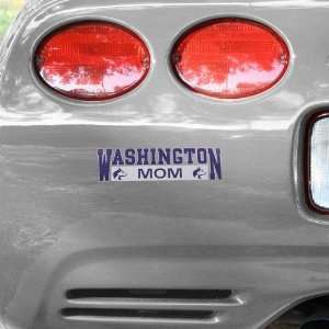 NCAA Washington Huskies Mom Car Decal Automotive