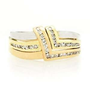 Diamond 14k Two Tone Gold Ring Jewelry