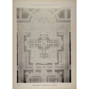 Architecture Building Floor Plan   Original Print
