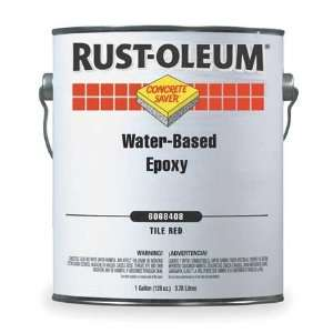RUST OLEUM 6068408 Floor Coating,1 gal,Tile Red,Epoxy