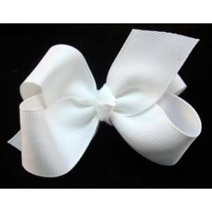 NEW White Baby Girl Hair Bow, Limited. Beauty