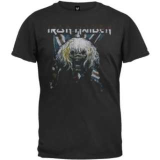 Iron Maiden   Flag T Shirt Clothing