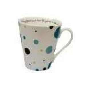 and Turquoise Polka Dot Mug in Gift Box