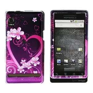 Motorola Droid A855 Purple Love Hard Case Snap on Cover