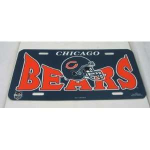NFL Chicago Bears Plastic License Tag