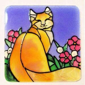 Red haired Kitty Cat Refrigerator Magnet